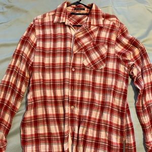 Sean John flannel. Red and white. Size medium